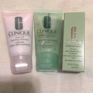 Skincare Beauty Clinique travel 3 new piece set
